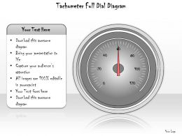 1113 Business Ppt Diagram Tachometer Full Dial Diagram Powerpoint Template