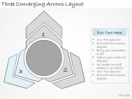 1113 Business Ppt Diagram Three Converging Arrows Layout Powerpoint Template