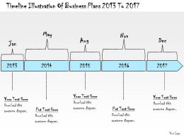 1113 Business Ppt Diagram Timeline Illustration Of Business Plans 2013 To 2017 Powerpoint Template