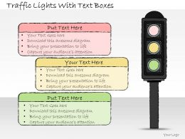 1113 Business Ppt Diagram Traffic Lights With Text Boxes Powerpoint Template