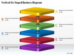 1113 Business Ppt Diagram Vertical Six Staged Business Diagram Powerpoint Template