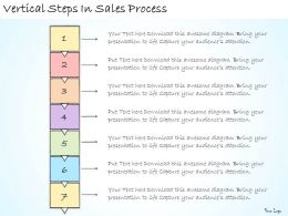 1113 Business Ppt Diagram Vertical Steps In Sales Process Powerpoint Template