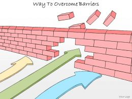 1113 Business Ppt Diagram Way To Overcome Barriers Powerpoint Template