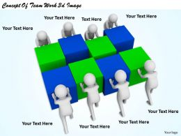1113 Concept Of Team Work 3d Image Ppt Graphics Icons Powerpoint