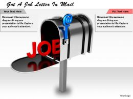 1113 Got A Job Letter In Mail Ppt Graphics Icons Powerpoint