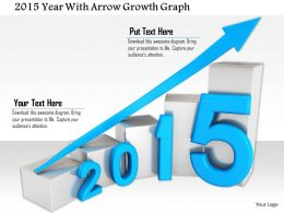 1114 2015 Year With Arrow Growth Graph Image Graphics For Powerpoint