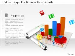 1114 3d Bar Graph For Business Data Growth Image Graphics For Powerpoint