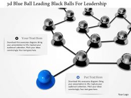 1114 3d Blue Ball Leading Black Balls For Leadership Image Graphic For Powerpoint