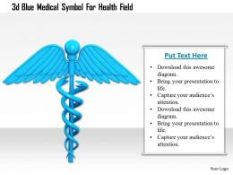 1114 3d Blue Medical Symbol For Health Field Image Graphic For Powerpoint