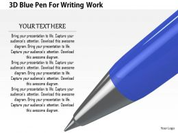1114 3d Blue Pen For Writing Work Image Graphics For Powerpoint