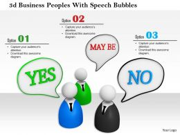 1114 3d Business Peoples With Speech Bubbles Ppt Graphics Icons