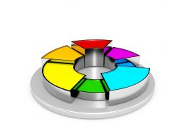 1114 3d Colorful Pie Chart For Business Stock Photo