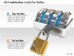 1114 3d Combination Lock For Safety Image Graphics For Powerpoint
