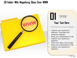 1114 3d Folder With Magnifying Glass Over Www Image Graphics For Powerpoint