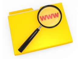 1114 3d Folder With Magnifying Glass Over Www Stock Photo
