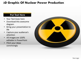 1114 3d Graphic Of Nuclear Power Production Powerpoint Template