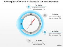 1114 3d Graphic Of Watch With Needle Time Management Powerpoint Template