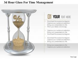 1114 3d Hour Glass For Time Management Image Graphics For Powerpoint