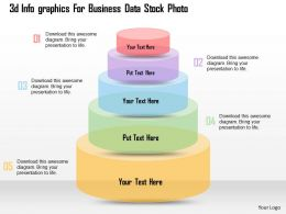 1114 3d Infographics For Business Data Presentation Template