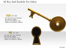 1114 3d Key And Keyhole For Safety Image Graphics For Powerpoint
