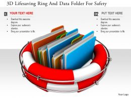 1114 3d Lifesaving Ring And Data Folder For Safety Image Graphics For Powerpoint