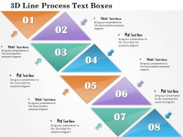 1114 3d Line Process Text Boxes Powerpoint Template