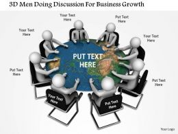 1114 3d Man Doing Discussion For Business Growth Ppt Graphics Icons