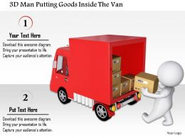 1114 3d Man Putting Goods Inside The Van Ppt Graphics Icons