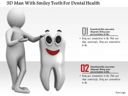 1114 3d Man With Smiley Teeth For Dental Health Ppt Graphics Icons
