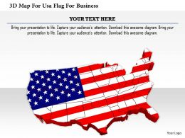 1114 3d Map For Usa Flag For Business Image Graphics For Powerpoint