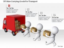 1114 3d Men Carrying Goods For Transport Ppt Graphics Icons