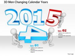 1114 3d Men Changing Calendar Years Image Graphics For Powerpoint