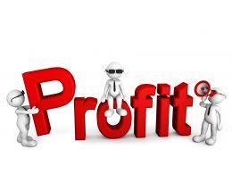 1114_3d_men_team_on_profit_text_stock_photo_Slide01