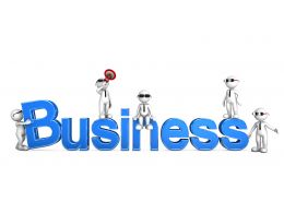 1114 3d Men Team With Business Text Stock Photo