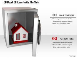 1114 3d Model Of House Inside The Safe Image Graphics For Powerpoint
