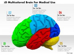 1114 3d Multicolored Brain For Medical Use Image Graphics For Powerpoint