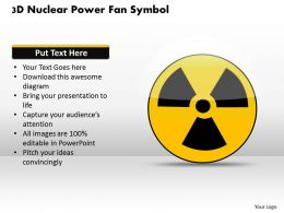 1114 3d Nuclear Power Fan Symbol Powerpoint Template