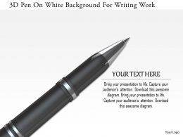 1114 3d Pen On White Background For Writing Work Image Graphics For Powerpoint