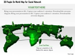 1114 3d People On World Map For Social Network Image Graphics For Powerpoint
