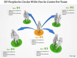 1114 3d Peoples In Circles With One In Center For Team Ppt Graphics Icons