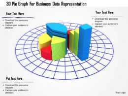 1114 3d Pie Graph For Business Data Representation Image Graphics For Powerpoint
