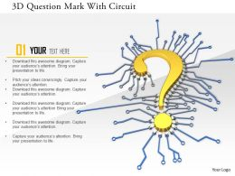 1114 3d Question Mark With Circuit Image Graphics For Powerpoint