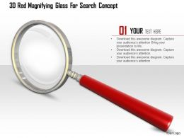 1114 3d Red Magnifying Glass For Search Concept Image Graphics For Powerpoint