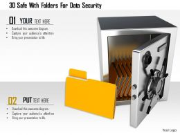 1114 3d Safe With Folders For Data Security Image Graphics For Powerpoint