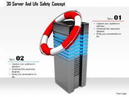 1114 3d Server And Life Safety Concept Image Graphics For Powerpoint