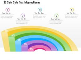 1114 3d Stair Style Text Infographics Powerpoint Template