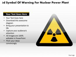 1114 3d Symbol Of Warning For Nuclear Power Plant Powerpoint Template