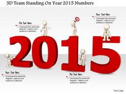 1114 3d Team Standing On Year 2015 Numbers Image Graphics For Powerpoint