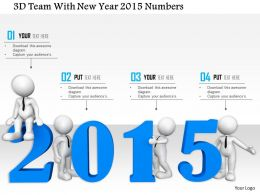 1114 3d Team With New Year 2015 Numbers Image Graphics For Powerpoint