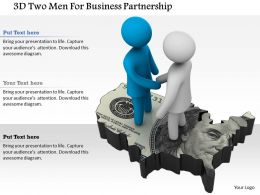 1114 3d Two Men For Business Partnership Ppt Graphics Icons